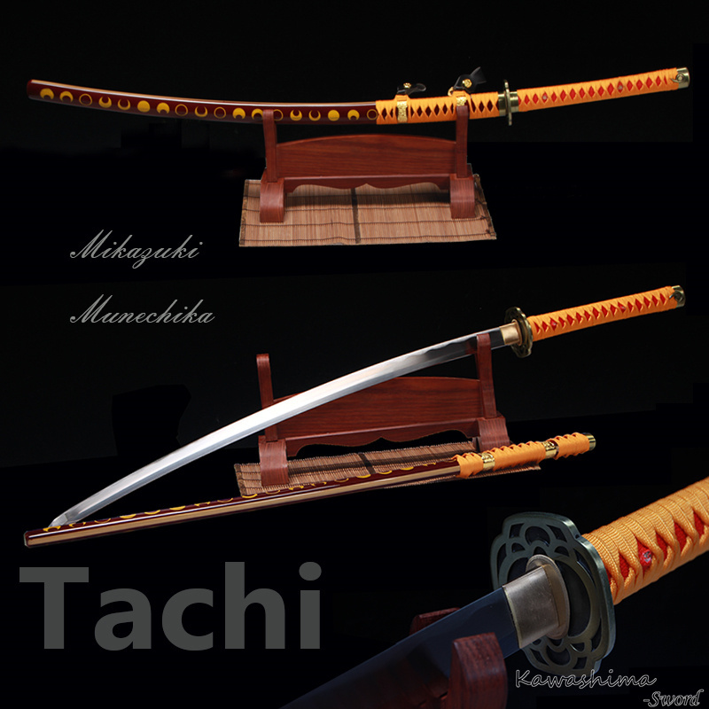Ręcznie robione 1060 wysokiej ze stali węglowej replika japoński miecz samuraja prawdziwa Katana Mikazuki Munechika Odachi Tachi 2017 nowy w Miecze od Dom i ogród na  Grupa 1