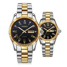 RIQINES lover fashion business automatic mechanical watch men women watch luminous anti-couple wristwatch