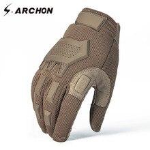S.ARCHON guantes de camuflaje táctico para hombre, manoplas de combate militares de dedo completo, cálidos, para invierno, Paintball, Airsoft, Camo, SWAT, guantes del ejército