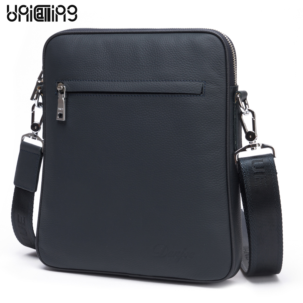 Men bags genuine leather brand stylish high quality cow leather men messenger bag casual men leather crossbody bag shoulder bag casual canvas women men satchel shoulder bags high quality crossbody messenger bags men military travel bag business leisure bag