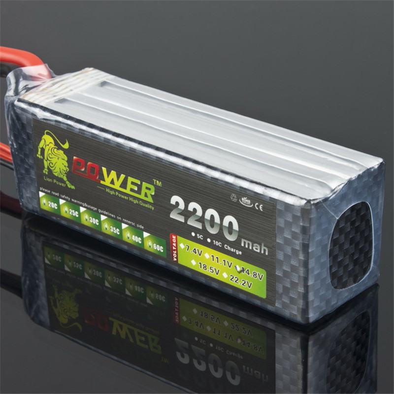 Free Shipping LION POWER Batteries 4s 14.8V 2200Mah 30C Max 50C Li-Battery 4s For Halicopters Cars Boats Quadcopters 4s Battery