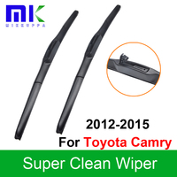 Silicone Rubber Wiper Blades For Toyota Camry 2012 2015 Pair 26 18 Windscreen Windshield Wipers Auto