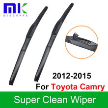 Silicone Rubber Wiper Blades For Toyota Camry 2012 2013 2014 2015 Pair 26″+18″ Windshield Wipers Auto Car Styling Accessories