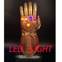 Avengers 3 Infinity War Infinity Gauntlet LED Cosplay Thanos Gloves With LED Prop