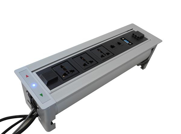 ZeShan JXP Flipping Electric Socket With RJ And VGA For High - Conference table electrical sockets