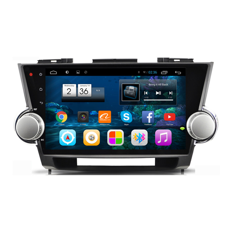 10.1 Android 4.2.2 1024X600 Car Radio DVD GPS Navigation Central Multimedia for Toyota Highlander 2009 2010 2011 2012 2013 2014