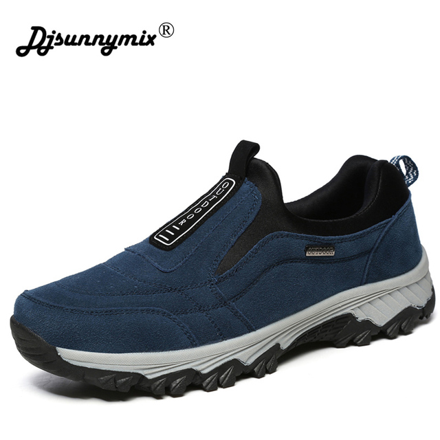 DJSUNNYMIX High Quality Men's Sneakers Outdoor Sports Hiking Shoes Spring autumn Footwear Men Walking Shoes big size 45
