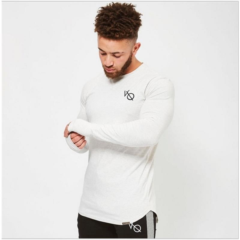 Running Shirt Men Spliced long Sleeve T Shirt Men Rashgard Gym Sport Shirts Man Fitness Shirt Dry Fit Cotton Crossfit T-shirt