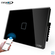 CNSKOU US/AU 1 Gang Touch APP Control Wifi Switch 118 Type Timing Smart Switch Smart Home Wifi For Alexa Google Home au us 3 gang wifi control touch switch wallpad support phone app alexa google home ios android 3 gang au wifi wall switch panel