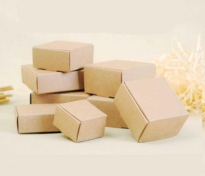 Saco de caixa de doces de chocolate pacote de presente de papel para o Aniversário de Casamento Party favor suprimentos Decoração DIY do vintage feitos à mão papel craft Wh