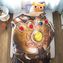 1pcsInfinity Gauntlet Summer Cool blanket air conditioning comforter children Adult  Marvel Thanos in summer throw