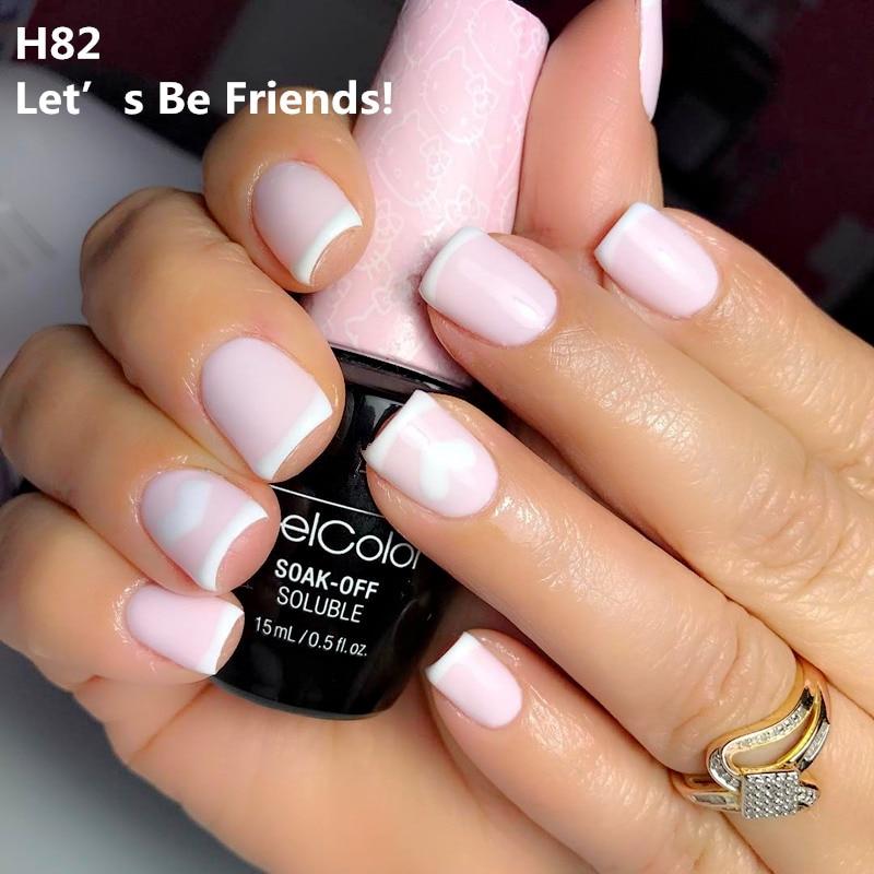 2018 Hot-selling Long Lasting Soak off 15ml Uv Led Nail Gel polish  Gel Varnish Glitter Lacquer Gelcolor Prime Nail art gel