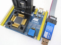 Clamshell QFP100 ATmega2560/640/1280/2561/1281/3250 with USB downloader IC Burning seat Adapter Test Socket test bench