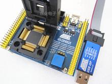 Z klapką QFP100 ATmega2560 640 1280 2561 1281 3250 z USB do pobierania IC spalania siedzenia Adapter gniazdo testowe stanowisku do badań tanie tanio Tester kabli JINYUSHI