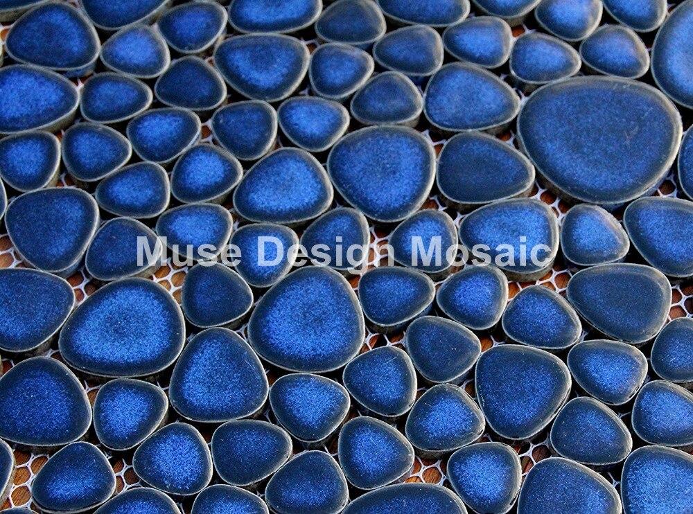 10 Tapis De Mosaique Mosaik Carrelage En Verre Bleu Fonce Pour Salle De Bain Ou Salle De Bain Construction Verre