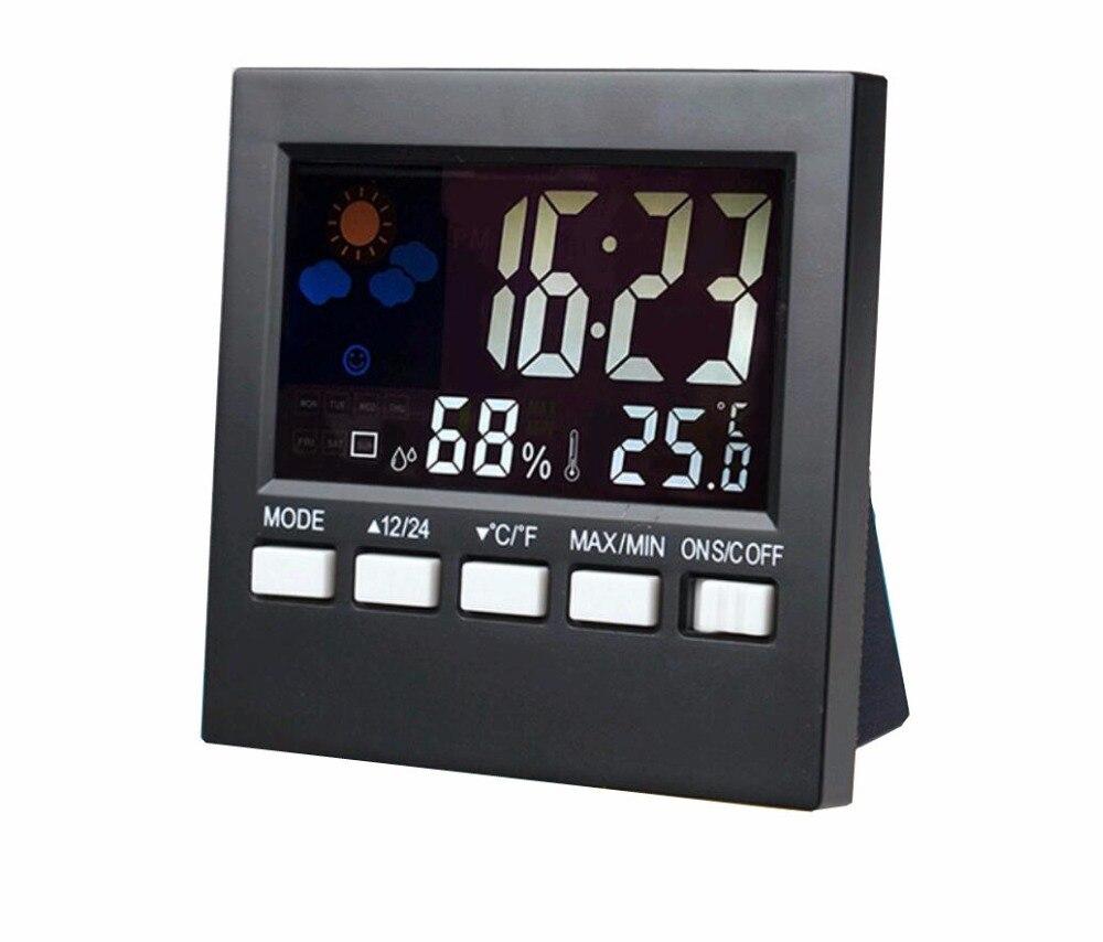 Color Screen Digital Alarm Clock Desktop Table Clock