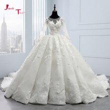 2020 Hàng Mới Về Bruidsjurken Tay Dài Bầu Áo Váy Áo Dây De Mariee PRINCESSE De Luxe 3D Hoa Hochzeit