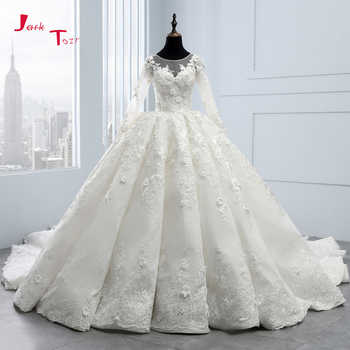 2020 New Arrival Bruidsjurken Long Sleeve Ball Gown Wedding Dresses Robe de Mariee Princesse de Luxe 3D Flowers Hochzeit - DISCOUNT ITEM  28% OFF All Category