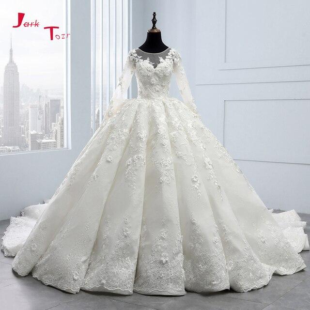 2020 New Arrival Bruidsjurken suknie ślubne z długim rękawem suknia ślubna szata de Mariee Princesse de Luxe 3D kwiaty Hochzeit