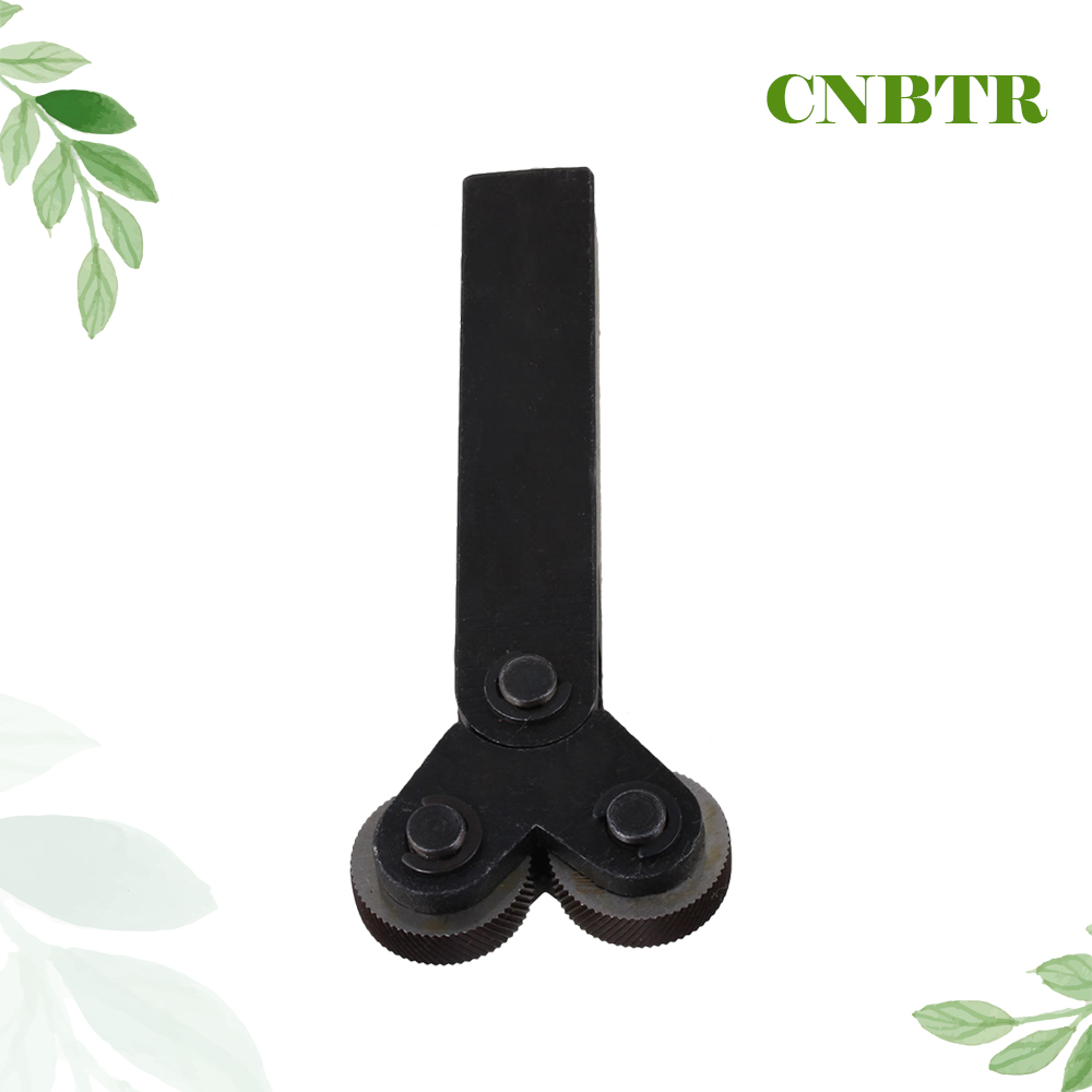 CNBTR 26mm Black Steel Dia Dual Wheels 1.0mm Pitch Linear Knurl Knurling Tool