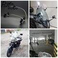 Мотоцикл Универсальный Воздушный Регулируемый Прозрачный 280/210 мм лобовое стекло расширение спойлер Экран воздушный дефлектор для Honda BMW ск...