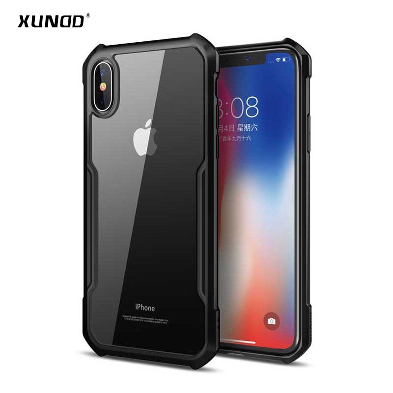 low priced b8f47 4b758 US $8.29 30% OFF|XUNDD HD Transparent PC+TPU Cover for iPhone X XS  Shockproof Case Cover for iPhone Xs 5.8 inch capa drop shipping-in Fitted  Cases ...