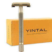 лучшая цена WEISHI Men's Razors Classic Safety Razor Double Edge Copper Long Handle Shaving Razor 11.5 cm