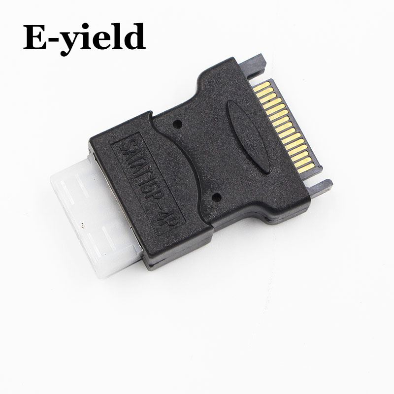 SATA 15 pin Male to 4Pin IDE Molex Female Power Adapter Converter Jack for PC ATX EPS PSU to IDE Hard Drive Connect  e5 15 pin sata male to 2 female 4 pin molex female ide hdd power hard drive cable 100