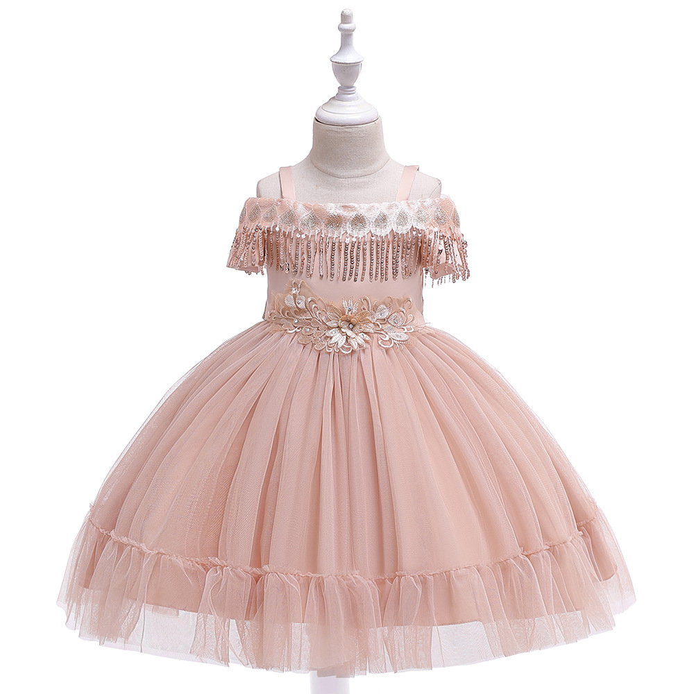 Popular Spaghetti Straps First Communion   Dresses   2019 Tulle Tutu Little   Girls   for Evening Party Gowns in Stock