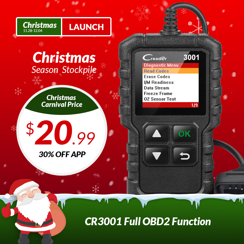 LANCEMENT X431 Creader 3001 OBDII OBD2 Code Lecteur Soutien Plein OBD 2 EOBD fonction CR3001 Auto Scanner PK AD310 NL100 ELM327