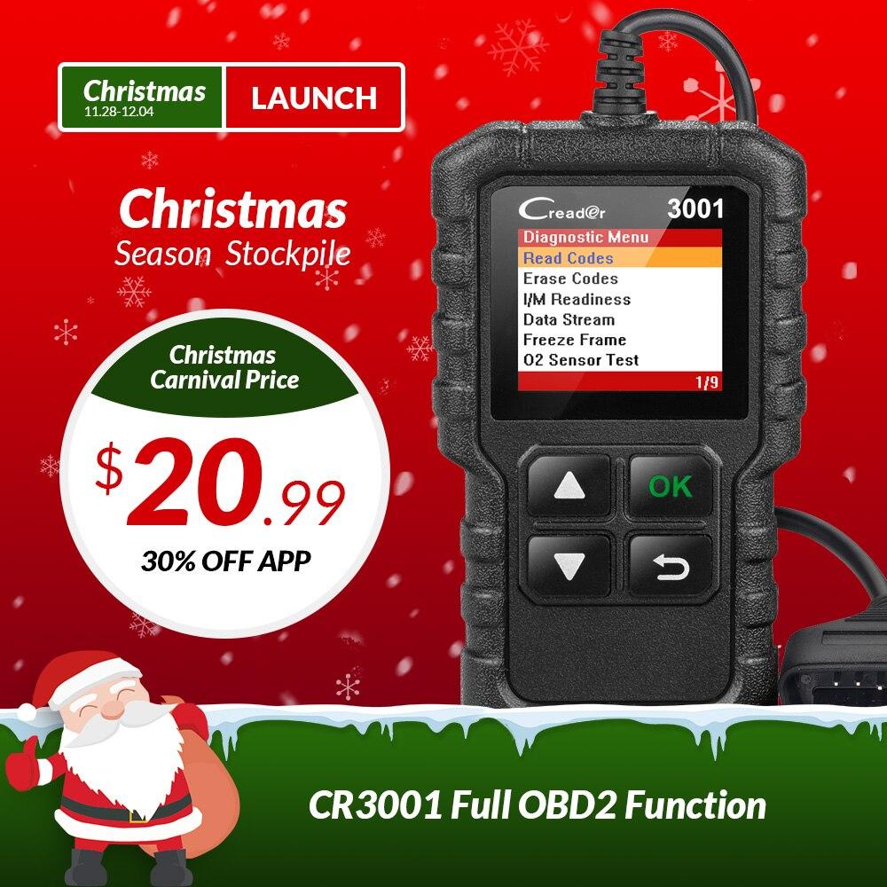 STARTEN X431 Creader 3001 OBDII OBD2 Code Reader Unterstützung Volle OBD 2 EOBD funktion CR3001 Auto Scanner PK AD310 NL100 ELM327