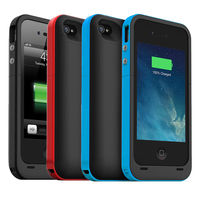 2000mAh External USB Battery Power Pack Bank Charger Adapter Backup Case Cover For Iphone 4 4s