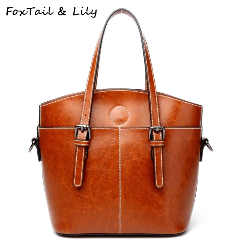 FoxTail & Lily New Brand 2018 Women Genuine Leather Small Shoulder Bag Luxury Handbag Designer Crossbody Female Messenger Bags crossbody bag handbag 2018 new brand designer messenger bags genuine leather women s female fashion woman chains bag shoulder
