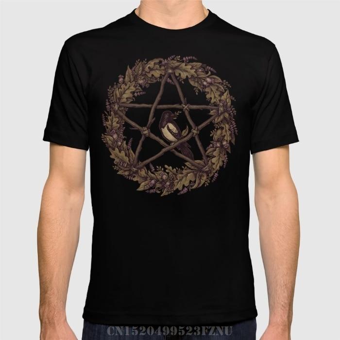 brand clothing black friday t-shirt men Botanical Pentacle Wild Witch short O neck Character Cotton tees homme Clothing