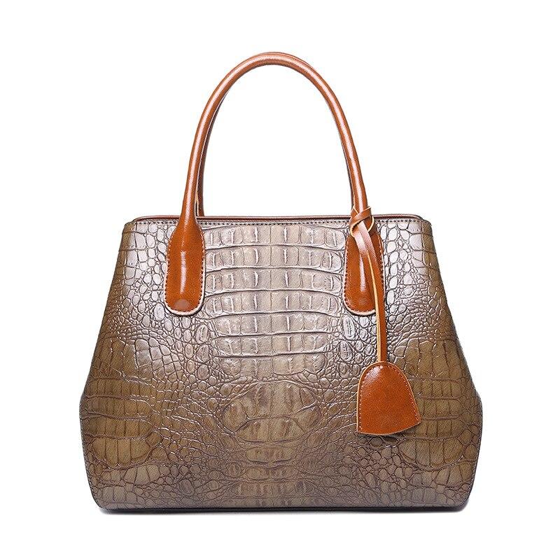 2019 Women Fashion Bag Genuine Leather Alligator Crocodile Pattern Handbag One Shoulder Messenger Bag Big Capacity2019 Women Fashion Bag Genuine Leather Alligator Crocodile Pattern Handbag One Shoulder Messenger Bag Big Capacity