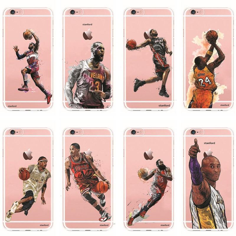 Телефонные Чехлы NBA Баскетбол игроков Майкл Джордан Пол Джордж Джеймс Харден ясности TP ...
