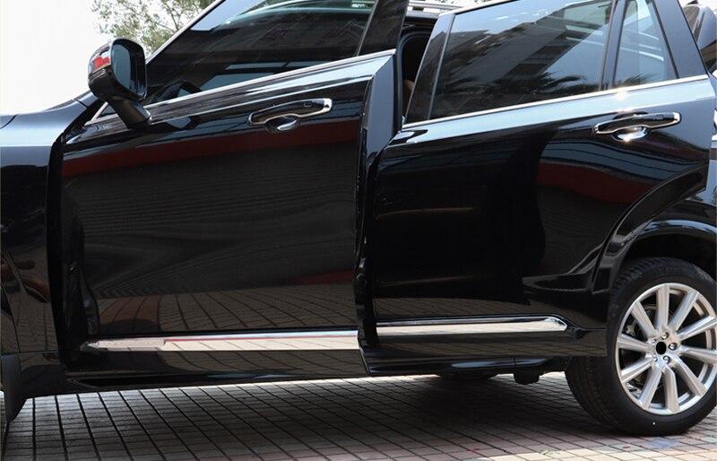 Для Volvo XC90 2015 2016 2017 2018 ABS Chrome Боковая дверь кузова накладка на молдинг отделкой 4 шт. автомобиль для укладки аксессуары