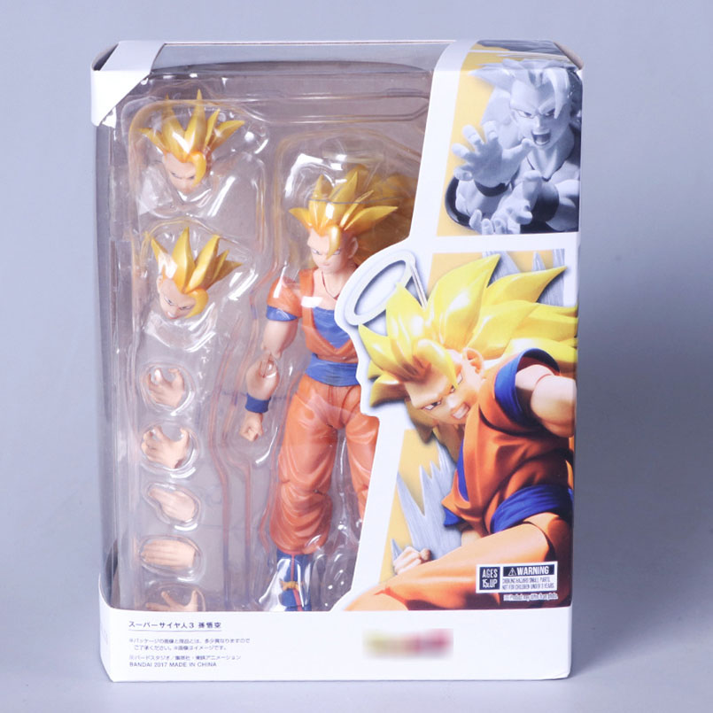 Japanese Anime SHF S.H.Figuarts Dragon Ball Z Super Saiyan 3 Son Goku PVC Action Figure Collectible Model Toy Christmas Gifts shf s h figuarts dragon ball z super saiyan 3 son goku dragon ball pvc figure collectible model toy ssj3 goku action figure