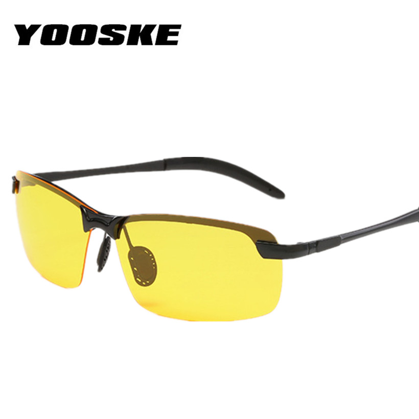YOOSKE Marca Polarizada Óculos De Sol Dos Homens de Condução Quadrado Óculos  de Sol óculos de Visão Noturna Óculos UV400 Óculos de Proteção Óculos de ... 0f3c92df93