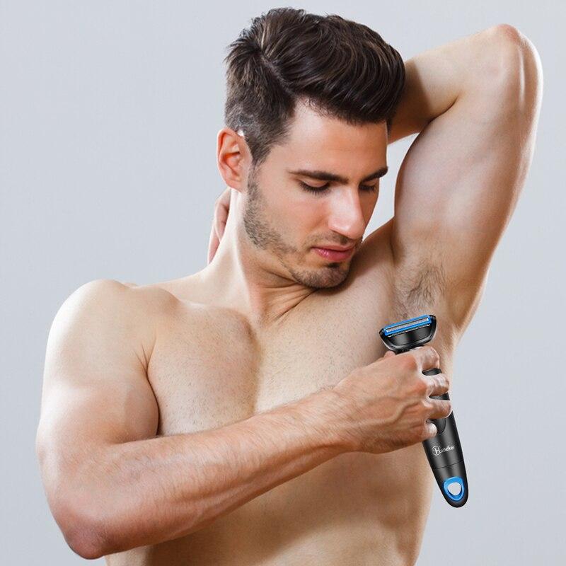 Image 5 - HATTEKER Epilator for Men Multifunctional Hair Trimer 5 In 1 Body Nose Hair Trimmer Battery electric razor Male Hair Remover-in Epilators from Home Appliances