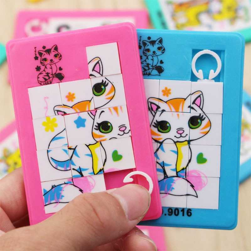 3D 9 Grid Three-Dimensional Animal Number Mobile Jigsaw Puzzle Plastic Sliding Puzzles Education Toys Children Kids Toys Puzzles
