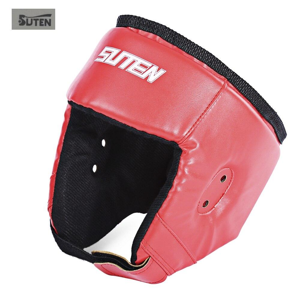 Prix pour SUTEN Head Garde De Boxe Casque Protecteur pour Taekwondo Lutter Art Martial De Boxe Head Garde PU En Cuir Respirant 2 Couleurs