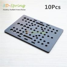 10Pcs 3D Printer Openbuilds Slider Gantry Plate Big V-Slot 127*88*3mm Aluminum Alloy CNC Special Slider Plate
