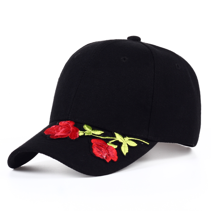 2017 Women's Cap Red Rose Flower Summer Snapback Hat For Men Women Unisex Style Baseball Cap  Fashion Hat Hip Hop Flat Ha cntang brand summer lace hat cotton baseball cap for women breathable mesh girls snapback hip hop fashion female caps adjustable