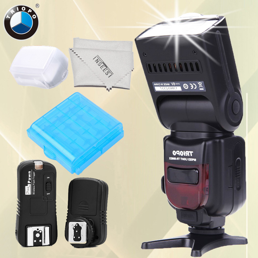 TRIOPO TR-586EX N Wireless TTL Flash Speedlite + Pixel TF-362 Flash Trigger For Nikon D7000 D7200 D750 D3300 D3000 D5200 Camera dx world triopo tr 988 professional speedlite ttl camera flash with high speed sync for canon and nikon digital slr cameras