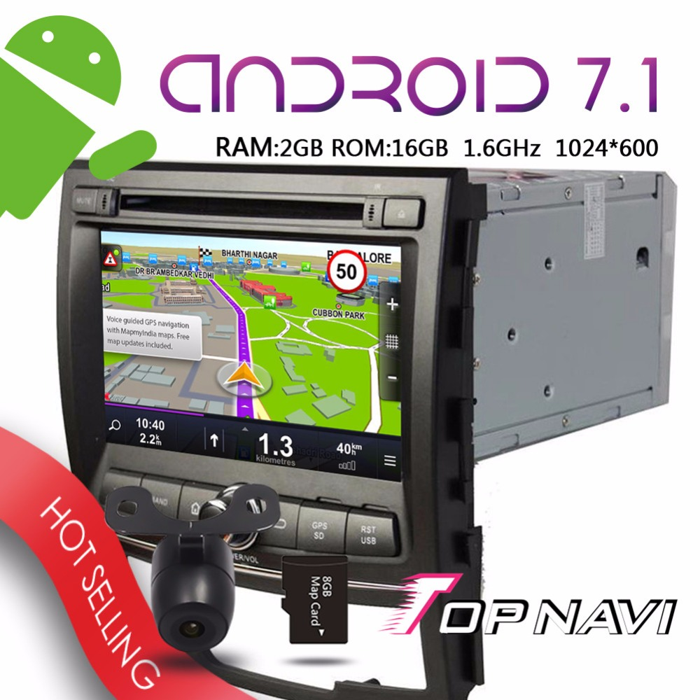 TOPNAVI 7 Android 7 1 Car Media Device for SSangYong Korando 2010 2011 2012 2013 Auto