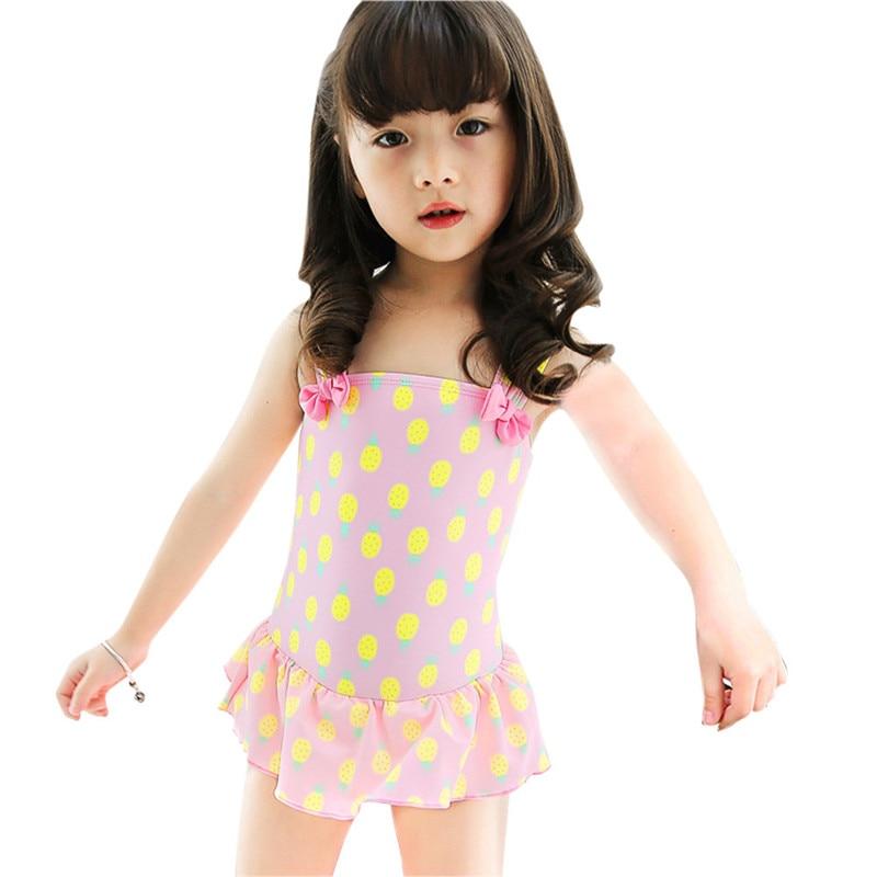 neonate costume da bagno estate bella ananas stampato costumi da bagno per bambini bambino infant ruffle