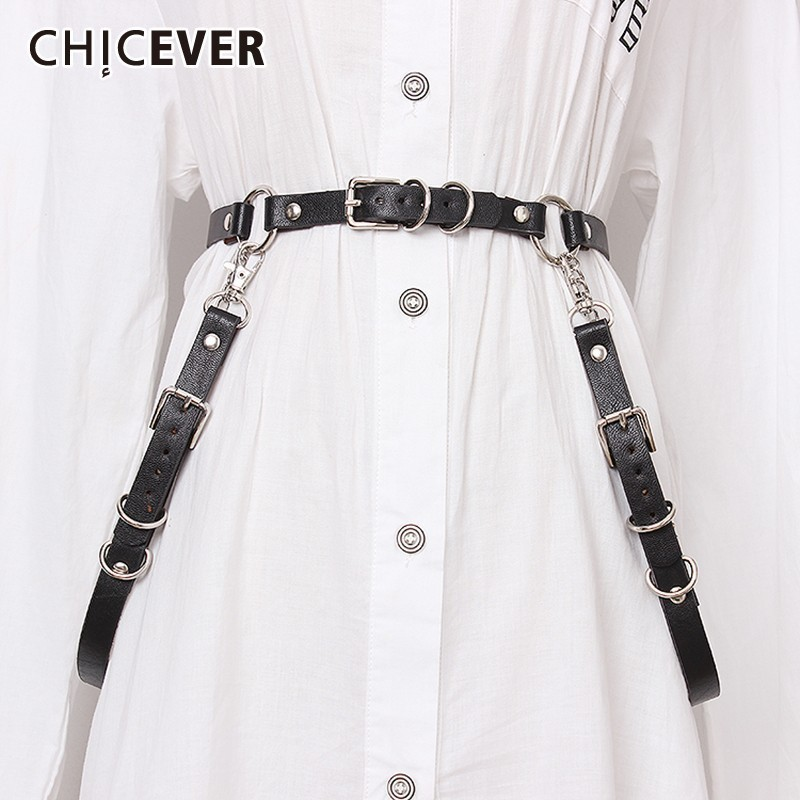CHICEVER PU Solid Belt For Women High Waist Vintage Dresses Accessories Fashion New Tide Belts Female 2019 Summer
