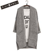 2016 Long Women Cardigans Feminino Autumn Winter Brand Long Style Knitted With Pockets Sweaters European Style