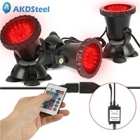 AKDSteel Submersible LED RGB Spot Light For Underwater 36 Pcs Beads Pool Pond Fountain Outdoor Landscape